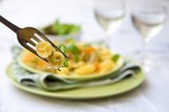 szparagowego basilu wyśmienicie makaronu pesto Obraz Stock