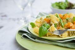 szparagowego basilu wyśmienicie makaronu pesto Zdjęcia Stock
