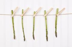 szparagowego clothesline wiszący lato Zdjęcie Royalty Free