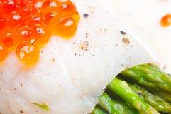 szparagowego kawioru śmietankowy rybi czerwony kumberland Obraz Royalty Free