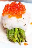 szparagowego kawioru śmietankowy rybi czerwony kumberland Obrazy Stock