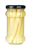szparagowego szklanego słoju marynowani trzony Obrazy Royalty Free