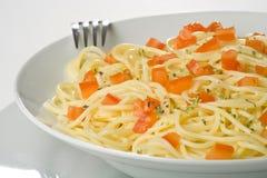 szparagowy świeży naturalny kumberlandu spaghetti pomidor Fotografia Royalty Free