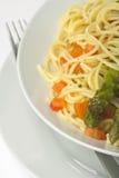 szparagowy świeży naturalny kumberlandu spaghetti pomidor Obraz Stock