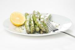 szparagowy świeży zielony naturalny Obrazy Stock