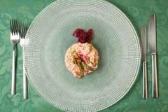 Szparagowy i ćwikłowy risotto Obraz Stock
