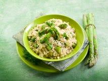 szparagowy risotto fotografia stock