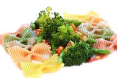 szparagowych brokułów dokrętek makaron Fotografia Stock