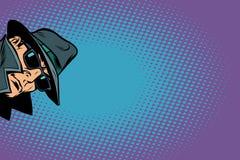 szpieg inwigilacja i siekać royalty ilustracja