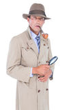 Szpieg patrzeje przez magnifier Fotografia Royalty Free