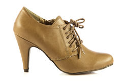 Szpilek kobiet buty na białych tło akcesoriach zdjęcie stock
