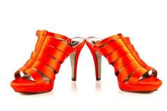 Szpilek kobiet buty na białym tle obrazy royalty free