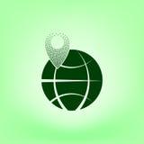 szpilka na kuli ziemskiej ikonie Zdjęcie Royalty Free
