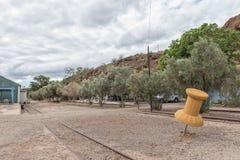 Szpilka na mapie przy Calitzdorp karawany parkiem Obrazy Royalty Free