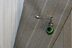 Szpilka od złego oka, ochrona osoby ` s odzież obrazy royalty free