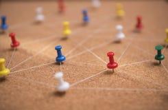 Szpilki łączyli liniowego sieci tło networking zdjęcie royalty free