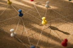 Szpilki łączyli liniowego sieci tło networking obraz royalty free