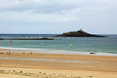 szpilki Brittany, Francja (,) : plaża obrazy stock