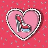 Szpilki butów mody łat inside kierowy projekt ilustracja wektor