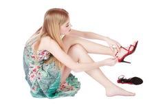 szpilki dziewczyn. zdjęcia stock