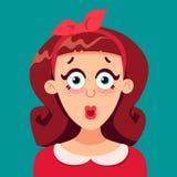 Szpilki dziewczyna zaskakująca Obraz Stock