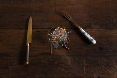 Szpilki jako posiłek Zdjęcie Stock