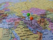 Szpilki mapa fotografia stock
