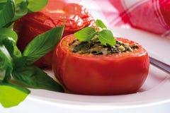szpinak faszerujący pomidory Fotografia Stock