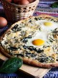 Szpinak pizza Obraz Royalty Free