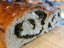 Szpinaka chleb Zdjęcie Royalty Free