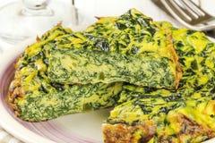 Szpinaka omelette Zdjęcie Stock