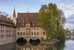 Szpital Święty duch, Nuremberg, Niemcy zdjęcie stock