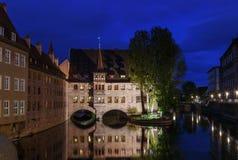 Szpital Święty duch, Nuremberg, Niemcy zdjęcia stock