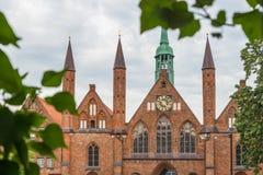 Szpital Święty duch w Luebeck, Niemcy zdjęcie royalty free