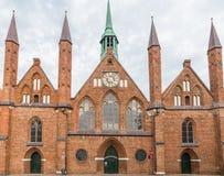 Szpital Święty duch w Luebeck, Niemcy obrazy royalty free