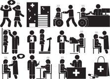 Szpital royalty ilustracja
