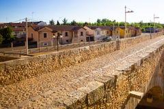 SZPITAL DE ORBIGO CASTILLA, HISZPANIA - widok mała wioska wzdłuż Camino de Santiago zdjęcie royalty free