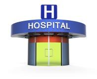 Szpital jako metafora ilustracja wektor