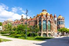 Szpital krzyż De Los angeles Santa Creu Święty Saint Paul i ja Sant Pau w Barcelona, Hiszpania obraz royalty free
