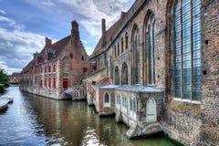 Szpital St John Oud Sint-Janshospital w Brugge, Belgia zdjęcie stock