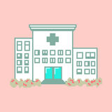 Szpital w piksel sztuki stylu Obraz Stock