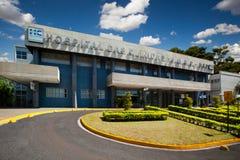Szpital w Sao Paulo uniwersytecie w Ribeirao Preto, Brazylia - Lipiec, 2017 obraz royalty free