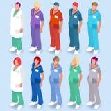 Szpitala 14 ludzie Isometric ilustracja wektor