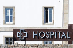 Szpitala znak Fotografia Royalty Free