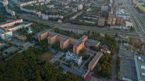 Szpitalna budynek antena zdjęcia stock