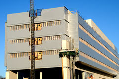Szpitalna budynek budowa Zdjęcia Royalty Free