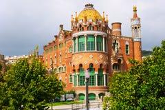 Szpitalny De Los angeles Santa Creu ja Sant Pau w Barcelona Obraz Stock