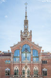 Szpitalny De Los angeles Santa Creu ja Sant Pau w Barcelona Obraz Royalty Free