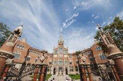 Szpitalny De Sant Pau, Barcelona, Hiszpania, Wrzesień 2016 Obraz Royalty Free