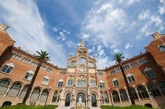 Szpitalny De Sant Pau, Barcelona, Hiszpania, Wrzesień 2016 Obrazy Stock